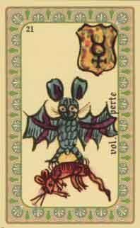 interpretation des crates de l oracle de belline :  la chauve souris