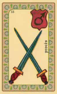 interpretation des crates de l oracle de belline :  les deux épées
