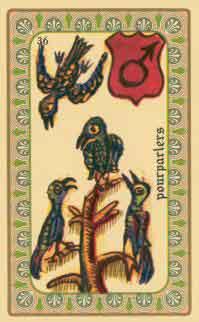 interpretation des crates de l oracle de belline :  les oiseaux des îles