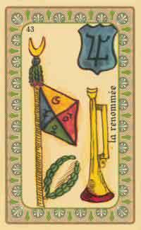 cartes de l oracle de belline :  la trompette