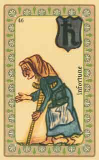 cartes de l oracle de belline :  la mendiante