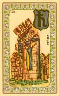 interpretation des carte de l'oracle de belline : les ruines