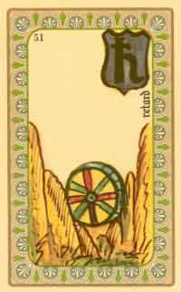 interpretation des carte de l'oracle de belline : la roue dans l'orniere