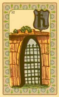 interpretation des carte de l'oracle de belline : le cloître