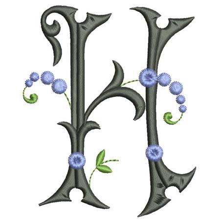 encromancie interprétation lettre  h