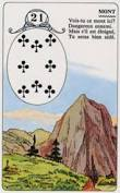 signification melle lenormand carte 21