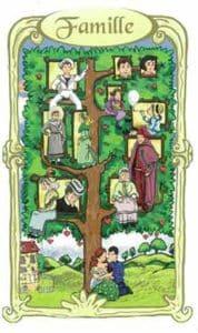 oracle des miroirs carte famille